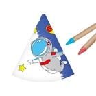 Színezhető űrhajó mintás parti csákó