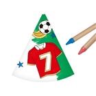 Coif de petrecere colorabilă - model fotbal