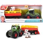 Dickie: Happy Fendt Tractor cu remorcă pentru animale - 30 cm
