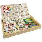 Tablă de desen în cutie de lemn cu accesorii
