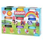 Dough: Set de plastilină - 9 borcănașe
