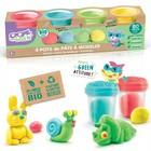 Canal Toys: Super Green - set de plastilină cu 4 borcănașe