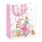 Plüssfigurák ajándéktasak - rózsaszín, 26 x 32 cm