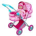 Lissi: Babakocsi szett babával és kiegészítőkkel - CSOMAGOLÁSSÉRÜLT