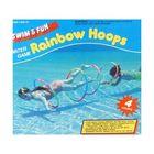 Set de 4 inele asamblabile pentru înot și joacă în apă - curcubeu
