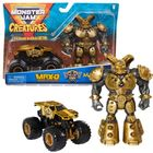 Monster Jam: Mașinuță MAX-D cu figurină Maximus - auriu