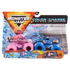 Monster Jam: Sparkle Smash și Ice Cream Man - set cu 2 mașinuțe culori schimbătoare