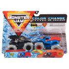 Monster Jam: Batman și Superman - set cu 2 mașinuțe culori schimbătoare