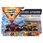 Monster Jam: Northern Nightmare și Earth Shaker - set cu 2 mașinuțe culori schimbătoare