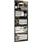 PEACE: Set de 12 etichete caiete
