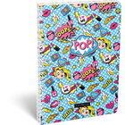 Lollipop POP: Négyzetrácsos spirál füzet - A4