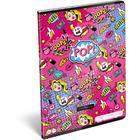 Lollipop POP: Négyzetrácsos tűzött füzet - A4