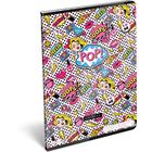 Lollipop POP: Sima tűzött füzet - A4