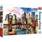 Trefl: Crazy cities - macskák New York-ban 1000 db-os puzzle