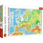 Trefl: Harta fizică a Europei - puzzle cu 1000 piese