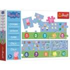 Trefl: Peppa Pig - Învață să numeri - puzzle educativ cu 20 de