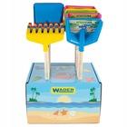 Wader: Happy Summer Hosszú szárú lapát vagy gereblye fa nyéllel, 39 cm - többféle