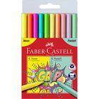 Faber-Castell: Grip 10 darabos filctoll szett- 5 neon, 5 pasztell