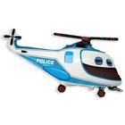Rendőrségi helikopter fólia lufi, 61 cm