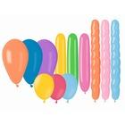 Set de 25 baloane colorate de diferite tipuri