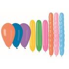 Különböző méretű, színes léggömb csomag - 15 db