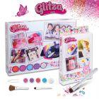 Glitza: Tatuaj cu sclipici Party Studio cu 180 de modele - cadou set tatuaje cu 50 de modele de fluturi