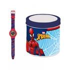 Spider-Man: ceas de mână în cutie de cadou din metal