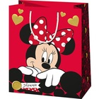 Minnie egér: Minnie dísztasak - piros, 11 x 6 x 14 cm