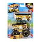 Hot Wheels Monster Trucks: 5 Alarm kisautó szett - sárga
