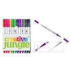 Creative Jungle: Kétvégű filctoll készlet, 12 darabos