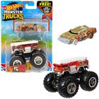 Hot Wheels Monster Trucks: 5 Alarm szett - piros
