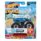 Hot Wheels Monster Trucks: Drag Bus kisautó - kék-fehér