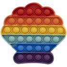 Pop it Now! Push Pop Bubble szivárvány stresszoldó játék - kagyló
