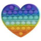 Pop it Now! Push Pop Bubble szivárvány stresszoldó játék - szív