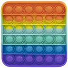 Pop it Now! Push Pop Bubble szivárvány stresszoldó játék - négyzet