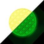 Push Pop Bubble - jucărie antistres fosforescent în formă circulară - două feluri