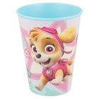 Mancs őrjárat: Kislány kutyusok mintás műanyag pohár, 260 ml