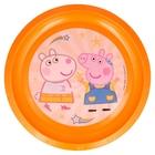 Peppa Pig: Farfurie plată din plastic, compatibil cu microunde