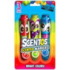 Scentos: 3 darabos illatos filctoll készlet - piros, zöld ,kék - CSOMAGOLÁSSÉRÜLT