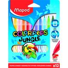 MAPED: kimosható, színes filctoll készlet, 12 db-os