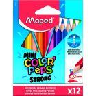MAPED: háromszögletű színes ceruza készlet, 12 db-os