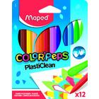MAPED: PlastiClean színes zsírkréta, 12 db-os