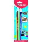 MAPED: Color Peps ecsetkészlet - színes, 4 db
