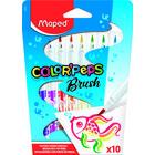MAPED: Color'Peps Brush - markere lavabile cu vârf de tip pensulă - 10 buc