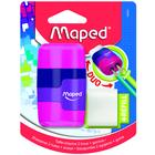 MAPED: Connect kétlyukú, tartályos hegyező és radír - rózsaszín