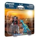 Playmobil: Set 2 figurine - dinozaur și cercetător - 70693