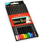 Faber-Castell: Black Edition Set de 12 creioane colorate