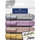 Faber-Castell: Metál színű szövegkiemelő készlet, 4 db-os