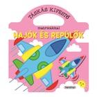 Carte de colorat geantă cu abțibilduri: Nave și avioane - educativ în lb. maghiară
