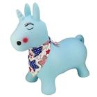 Funbee: Unicorn de sărit cu batic - albastru deschis